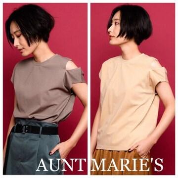 定価5,400円 AUNT MORES【新品】肩スリットポンチカットソー