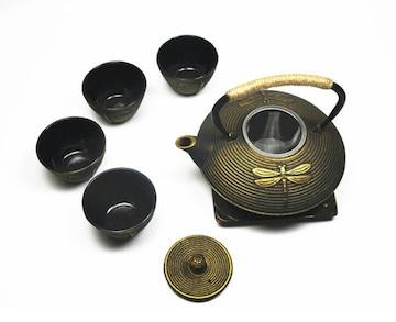 鋳鉄 純粋な手 南部鉄器 ティーカップ 急須セット 直火 IH対応