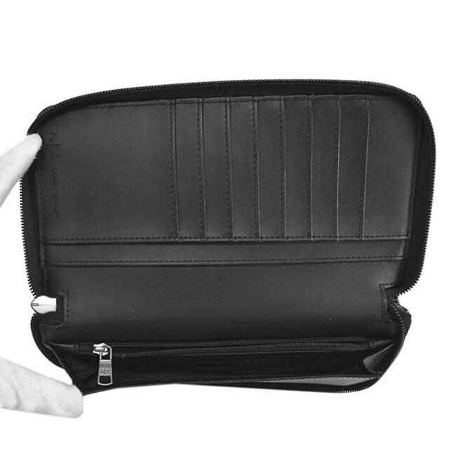 ◆新品本物◆アルマーニエクスチェンジ ラウンド長財布(BK)『958055 CC230』 ◆ < ブランドの