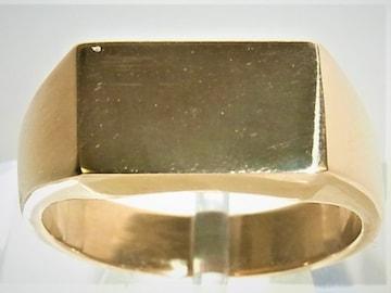 K18 18金 リング 印台 指輪 サイズ#17 男女兼用
