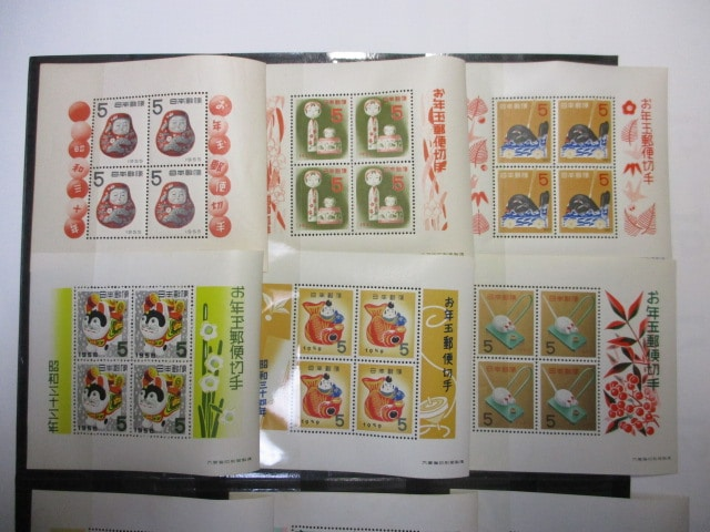 年賀切手シート12種セット 未使用 お年玉郵便切手 5円切手 < ホビーの