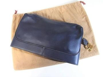 ☆美品☆ロエベ カーフ製クラッチバッグ 一枚革仕立て