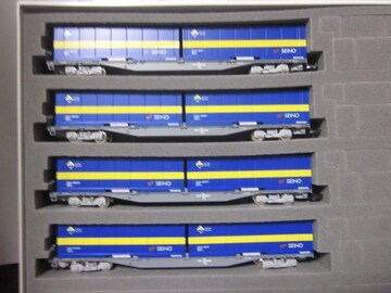 TOMIX 97902 JRコキ107形貨車 増備型 西濃運輸コンテナ付
