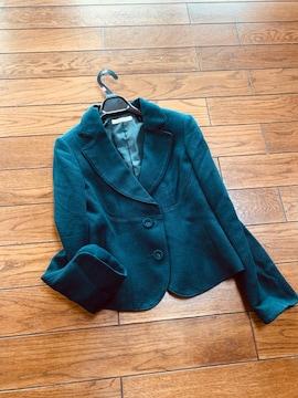 【サイズ7】ALLUQE DE  ELLE◆濃紺軽楽テーラードジャケット