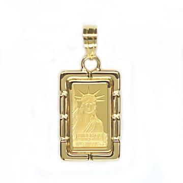 【新品未使用】K24 ペンダント 自由の女神 ゴールド