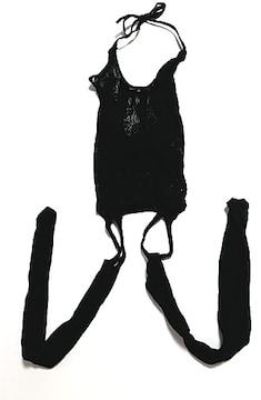 新品[7931]黒★セクシー網タイツ/ガーターストッキング
