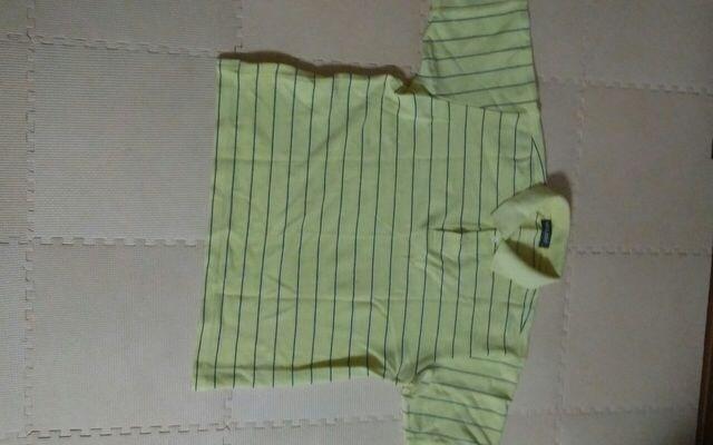 MIXART Mサイズ イエロー ボーダー 半袖ポロシャツ 美品  < 男性ファッションの