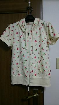 ピーチ・ジョン ダブルZIP バラ柄パーカー
