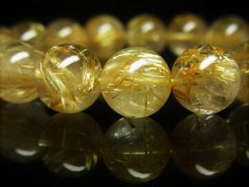 ギャンブル運を上げる数珠 タイチンルチルブレスレット 12mm天然石