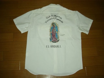 ラディアルRADIALLマリア半袖シャツL白メキシカン+クロス