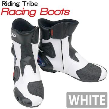 Riding Tribe レーシングブーツ バイク用 RB-WH 43 26.5cm