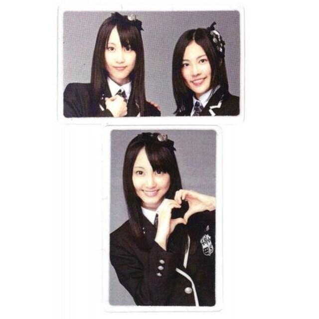 ラミネート 両面カード●SKE48●松井玲奈&松井珠理奈 D●新品  < タレントグッズの