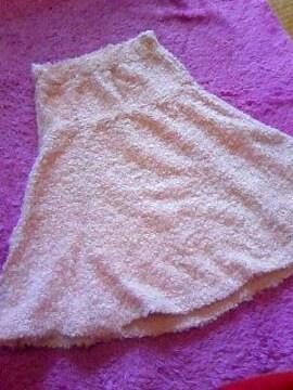 sugar glassふんわりモコモコかわゆい薄pinkのスカート未使用