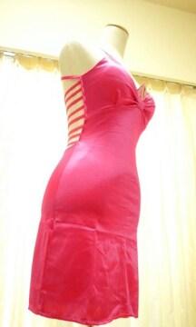 ☆新品タグ付☆大胆背魅せ&光沢編み上げSexyドレス ☆3点で即落