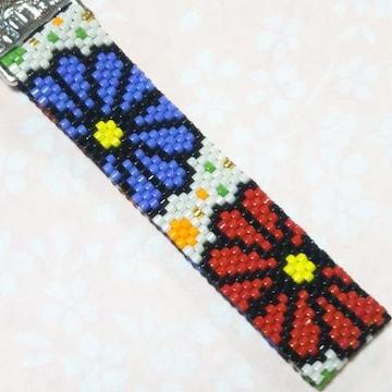【handmade】ペヨーテステッチ☆flower☆ストラップ