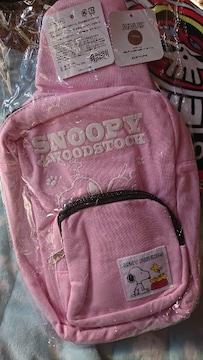 新品 スヌーピー肩掛けバック ピンク