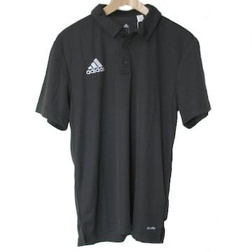 新品◆送料無料◆アディダ 黒クライマライトポロシャツ(M)