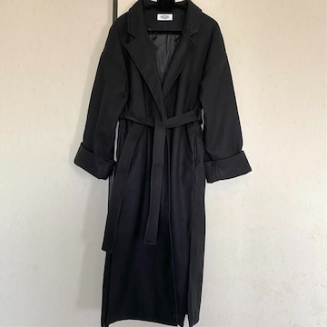 マキシガウンチェスターコートM/ブラック