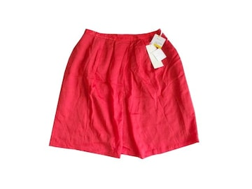 新品 定価14900円 自由区 赤 テンセル フレア スカート 38