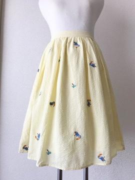 [Hamble]★刺繍入りミディ丈スカート・サイズ[ONE]★