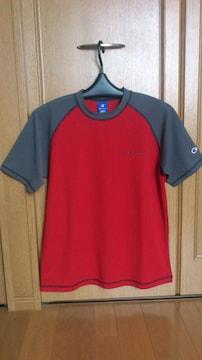 激安88%オフチャンピオン、ロゴTシャツ(美品、赤灰、M)