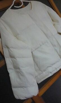 ボリューム袖が素敵な秋冬用 中綿ジャンパーオフホワイト