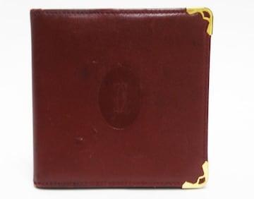 Cartierカルティエ 二つ折り財布 マストライン 良品 正規品