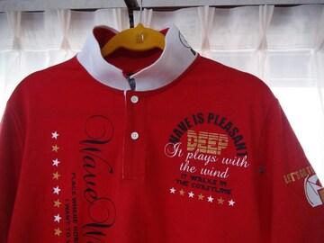 ガゼールのポロシャツ(LL)赤、白新品!。