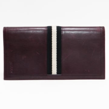 BALLYバリー 二つ折り長財布 レザー 赤紫系 良品 正規品