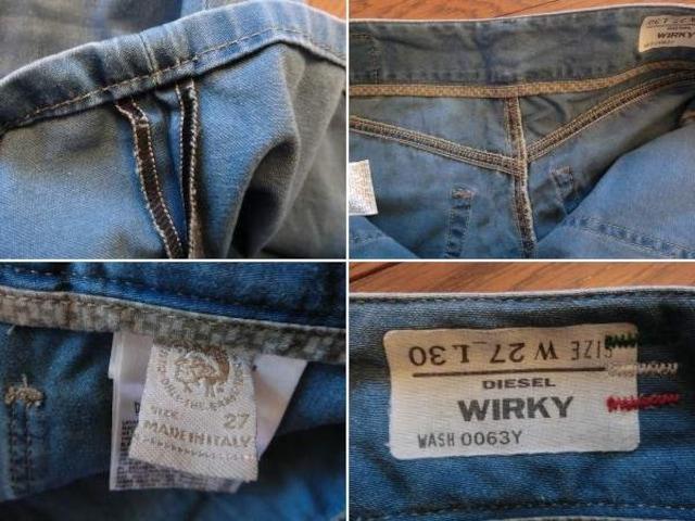 ディーゼル WIRKY ダメージ加工 イタリア製 バギージーンズ ロゴパッチ < ブランドの