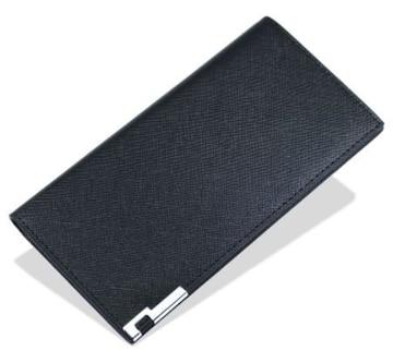 売れてます☆メンズ 薄型 長財布 二つ折り 財布1256