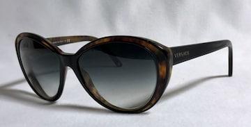 正規 セレブ着 VERSACEヴェルサーチ ロゴ文字ヴィンテージサングラス黒×茶 メガネ