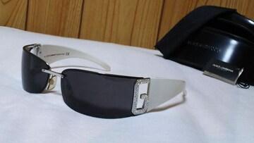正規 Gackt着 同型 ドルチェ&ガッバーナ D&Gロゴメタルスポーティサングラス 黒×白