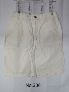 No.386 送料込 未使用 w closet バニラホワイトデニムスカート