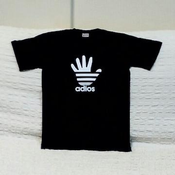 adios★おもしろTシャツ★黒★ブラック★XXL★綿100%★