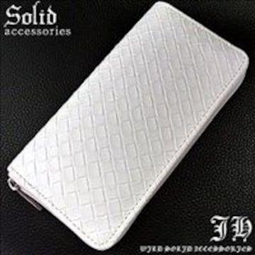 ★斬新★ ホワイト 長財布 ラウンドファスナー 白 メンズ