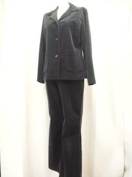 【AQUA FLORAL】黒ベルベットのパンツスーツです