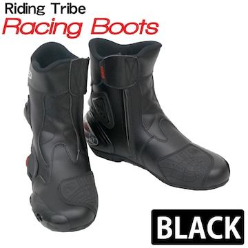 Riding Tribe レーシングブーツ バイク用 RB-BK 45 27.5cm